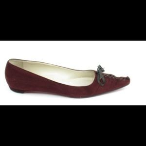 Lace up Pointed Toe Skimmer Flats (EUR 39)